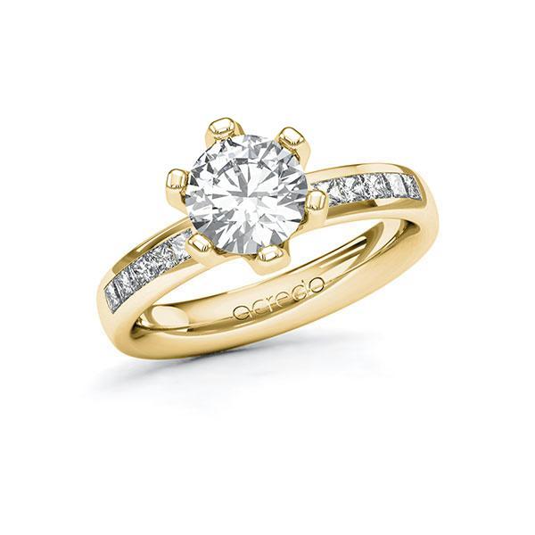 Verlobungsring Diamantring 1,8 ct. G VS & tw, si Gelbgold 585
