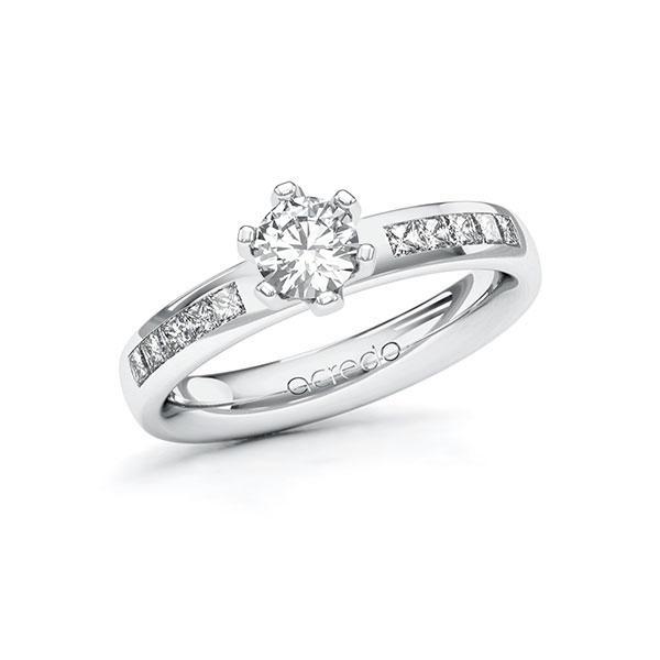 Verlobungsring Diamantring 0,8 ct. G SI & tw, si Weißgold 585