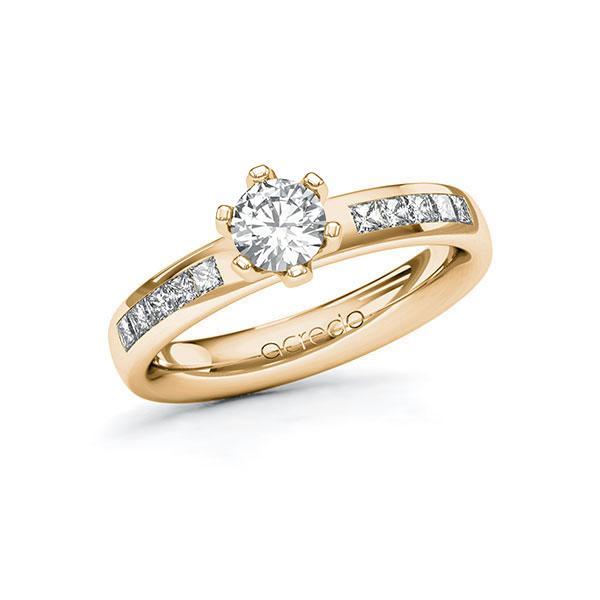 Verlobungsring Diamantring 0,8 ct. G SI & tw, si Roségold 585