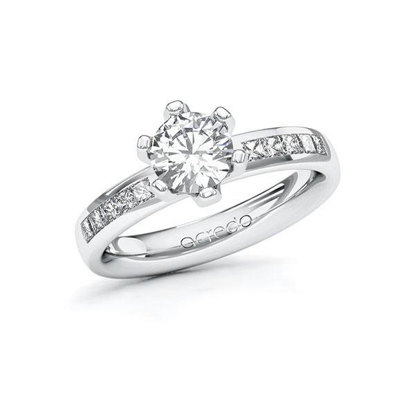 Verlobungsring Diamantring 1,3 ct. G VS & tw, si Weißgold 585