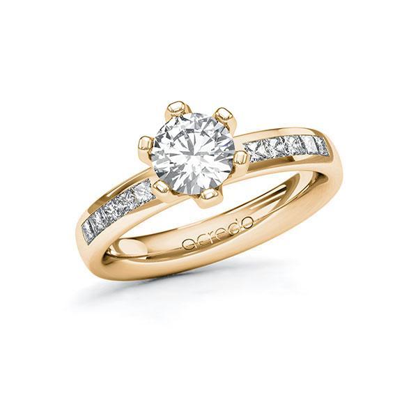 Verlobungsring Diamantring 1,3 ct. G VS & tw, si Roségold 585