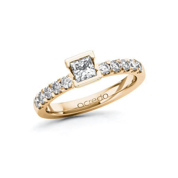 Verlobungsring Diamantring 0,7 ct. G VS & tw, si Roségold 585