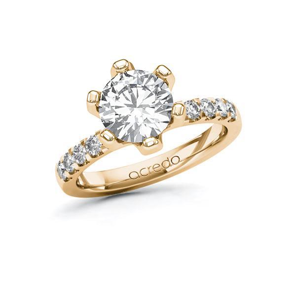 Verlobungsring Diamantring 2,3 ct. G VS & tw, si Roségold 585