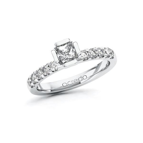 Verlobungsring Diamantring 0,8 ct. G VS & tw, si Weißgold 585