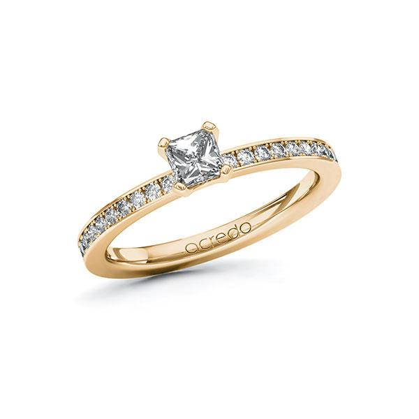 Verlobungsring Diamantring 0,6 ct. G VS & tw, si Roségold 585