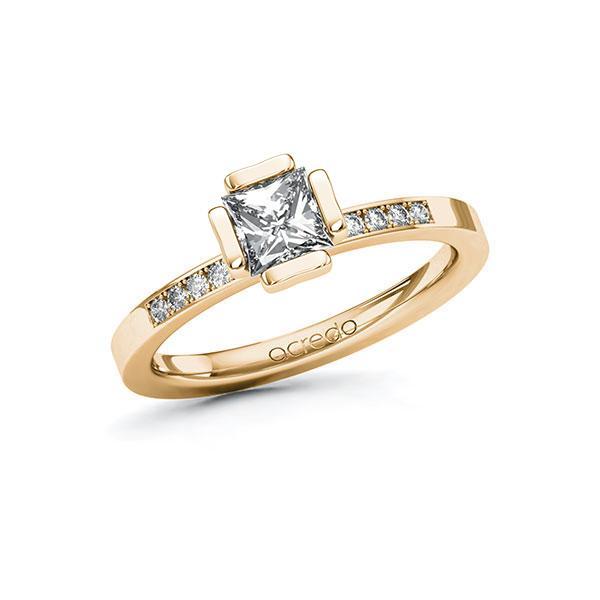 Verlobungsring Diamantring 0,8 ct. G VS & tw, si Roségold 585