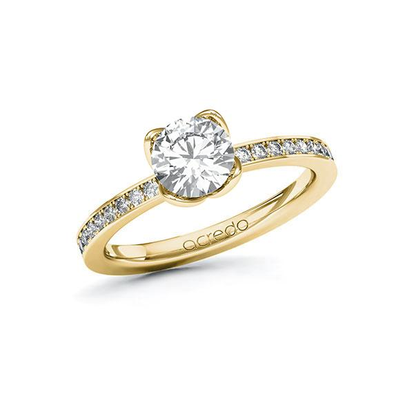 Verlobungsring Diamantring 1,2 ct. G SI & tw, si Gelbgold 585