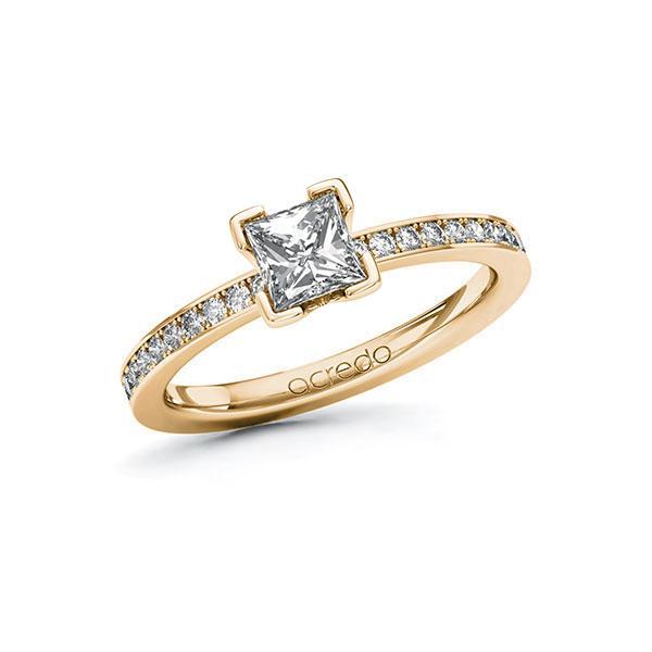 Verlobungsring Diamantring 0,9 ct. G VS & tw, si Roségold 585