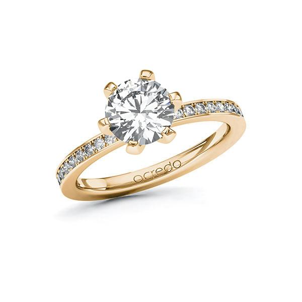 Verlobungsring Diamantring 1,7 ct. G SI & tw, si Roségold 585