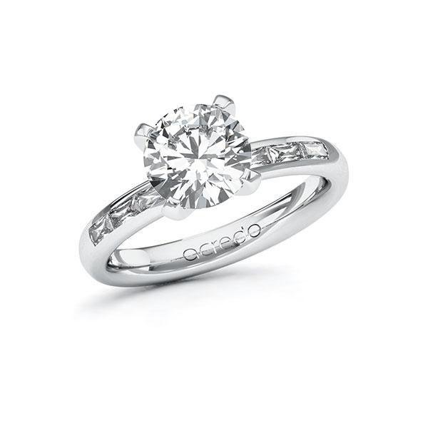 Verlobungsring Diamantring 2,3 ct. G VS & tw, vs Weißgold 585