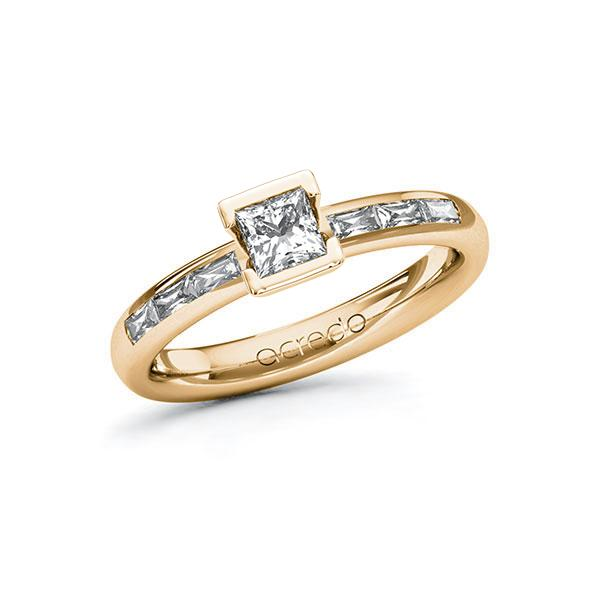 Verlobungsring Diamantring 0,7 ct. G VS & tw, vs Roségold 585
