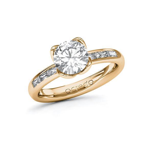 Verlobungsring Diamantring 1,8 ct. G VS & tw, vs Roségold 585