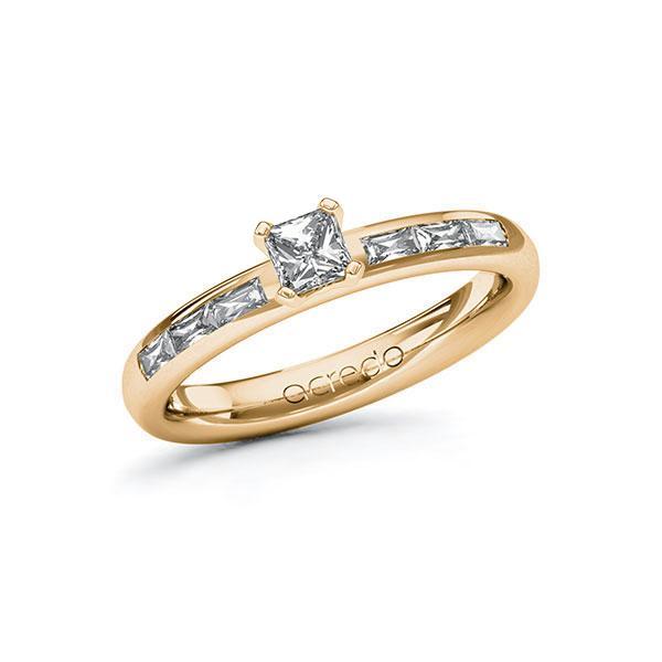 Verlobungsring Diamantring 0,6 ct. G VS & tw, vs Roségold 585