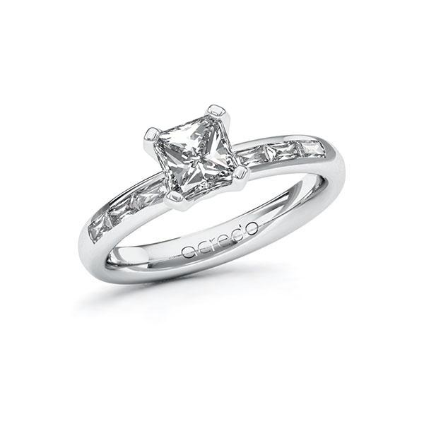 Verlobungsring Diamantring 1,3 ct. G VS & tw, vs Weißgold 585