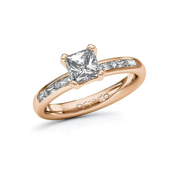 Verlobungsring Diamantring 1,3 ct. G VS & tw, vs Rotgold 585