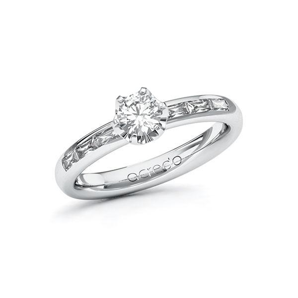 Verlobungsring Diamantring 0,7 ct. G VS & tw, vs Weißgold 585