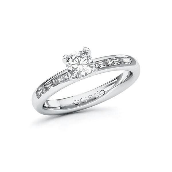 Verlobungsring Diamantring 0,8 ct. G VS & tw, vs Weißgold 585