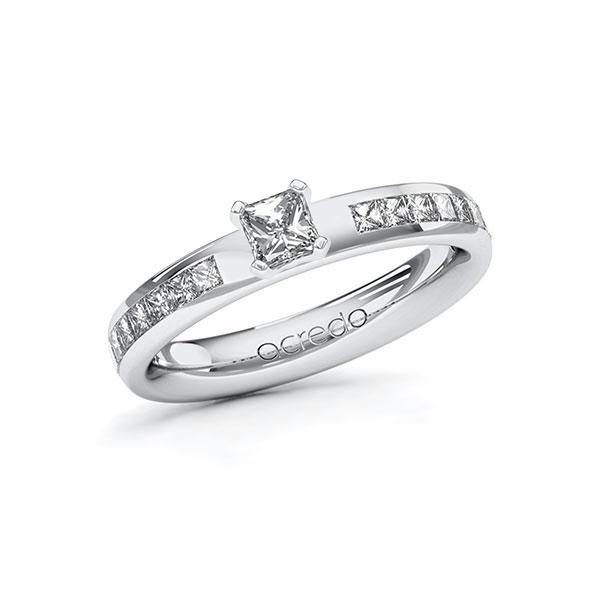 Verlobungsring Diamantring 0,78 ct. G VS & tw, si Weißgold 585