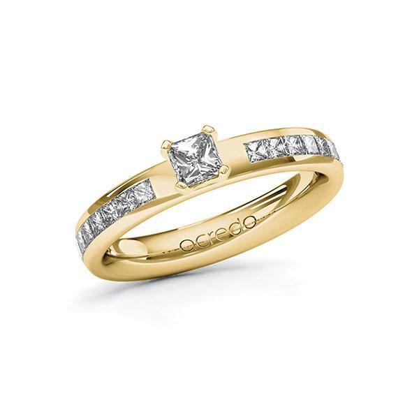 Verlobungsring Diamantring 0,78 ct. G VS & tw, si Gelbgold 585