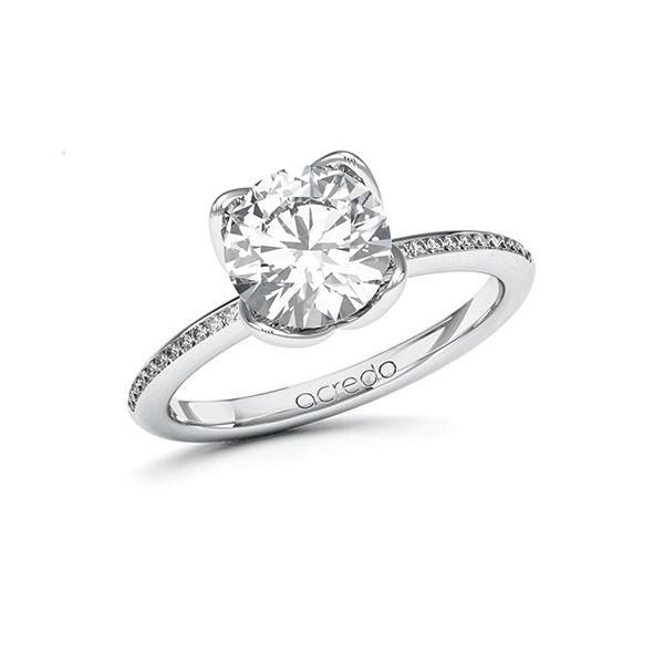 Verlobungsring Diamantring 2,13 ct. G SI & tw, si Weißgold 585
