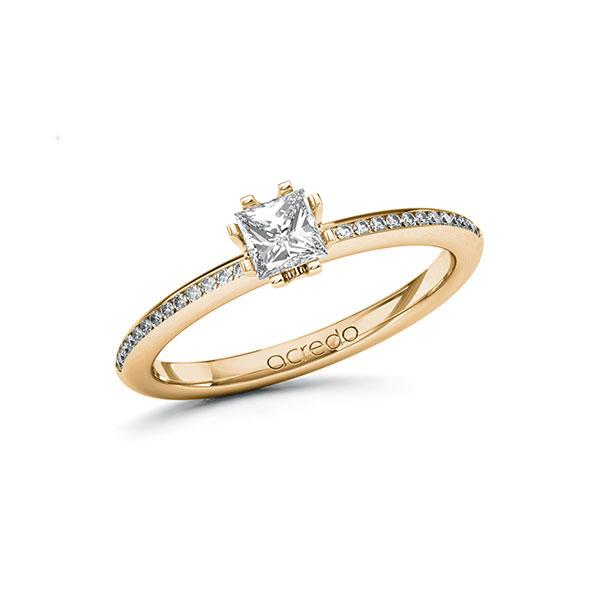 Verlobungsring Diamantring 0,53 ct. G VS & tw, si Roségold 585