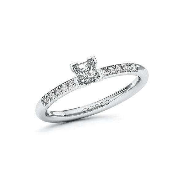 Verlobungsring Diamantring 0,38 ct. G VS & tw, si Weißgold 585