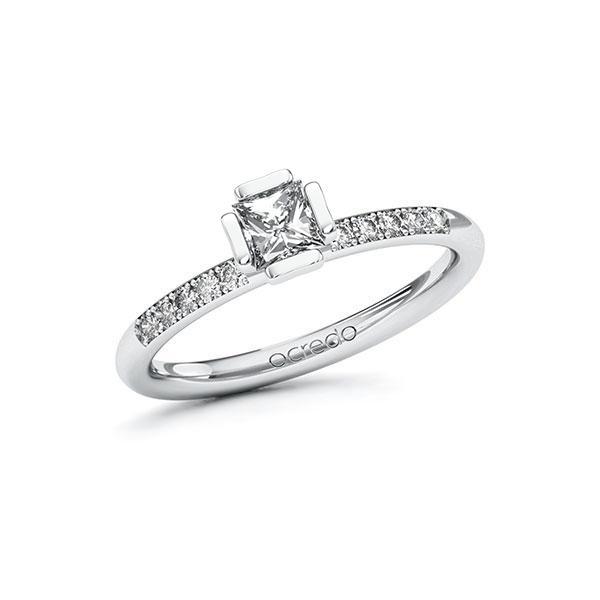 Verlobungsring Diamantring 0,48 ct. G VS & tw, si Weißgold 585