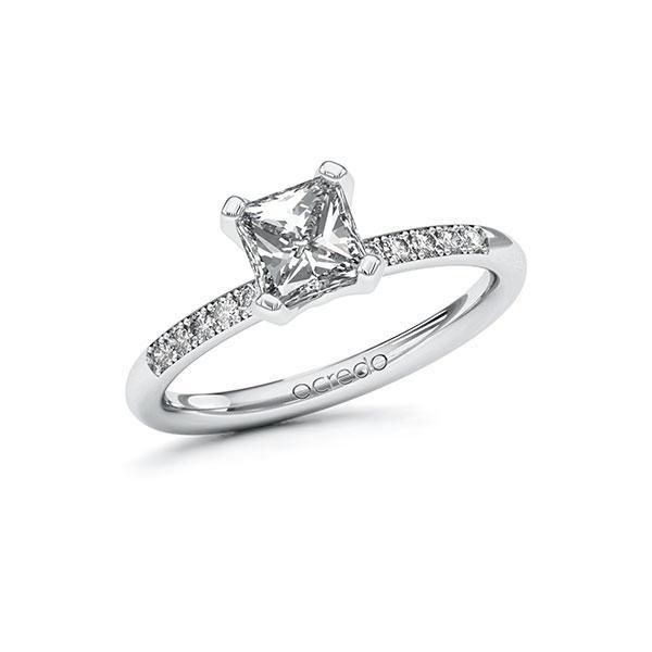 Verlobungsring Diamantring 1,08 ct. G VS & tw, si Weißgold 585