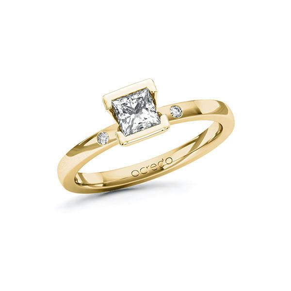 Verlobungsring Diamantring 0,52 ct. G VS & tw, si Gelbgold 585