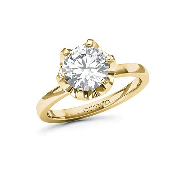 Verlobungsring Diamantring 2,02 ct. G SI & tw, si Gelbgold 585