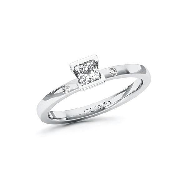 Verlobungsring Diamantring 0,32 ct. G VS & tw, si Weißgold 585