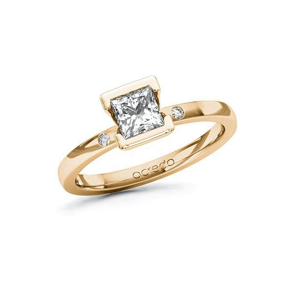 Verlobungsring Diamantring 0,72 ct. G VS & tw, si Roségold 585