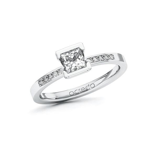 Verlobungsring Diamantring 0,58 ct. G VS & tw, si Weißgold 585
