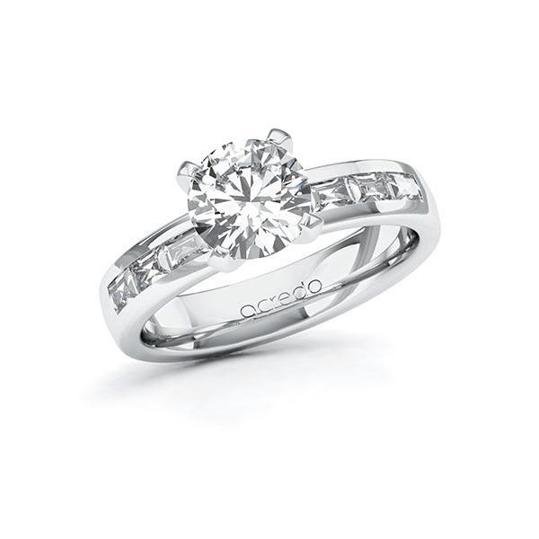 Verlobungsring Diamantring 1,98 ct. G VS & tw, vs Weißgold 585