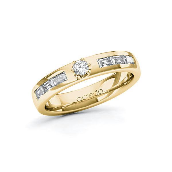 Verlobungsring Diamantring 0,58 ct. tw, si & tw, vs Gelbgold 585