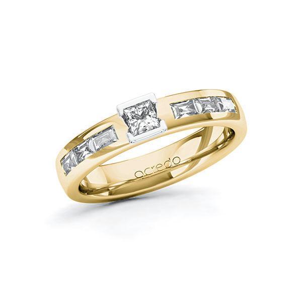 Verlobungsring Diamantring 0,68ct. tw, si & Gelbgold 585 Weißgold 585