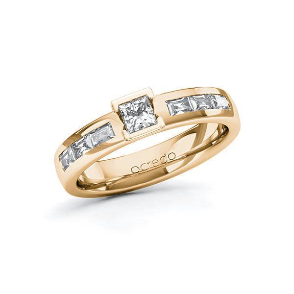 Verlobungsring Diamantring 0,73 ct. tw, si & tw, vs Roségold 585
