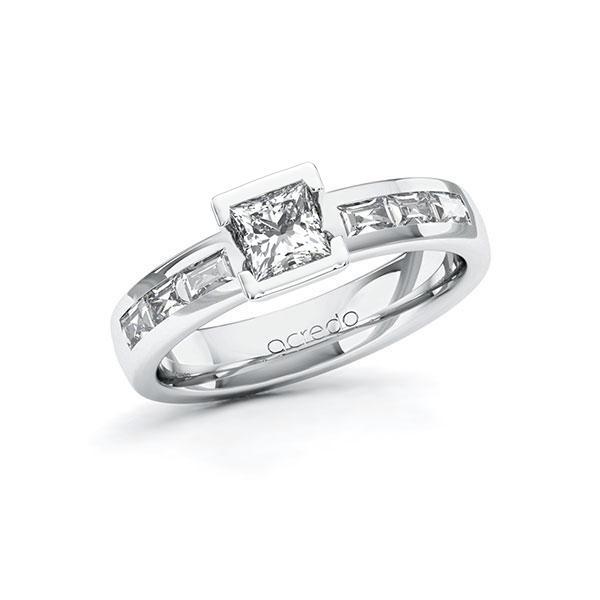 Verlobungsring Diamantring 0,98 ct. G VS & tw, vs Weißgold 585