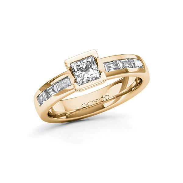 Verlobungsring Diamantring 0,98 ct. G VS & tw, vs Roségold 585