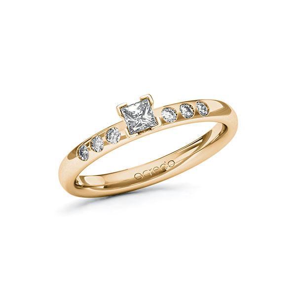 Verlobungsring Diamantring 0,32 ct. tw, vs & tw, si Roségold 585