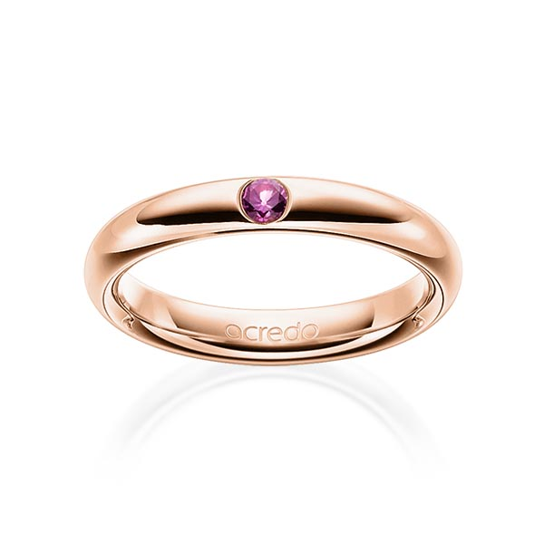 Trauringe Rotgold 585 mit 0,08 ct. Saphir Pink (A 10)