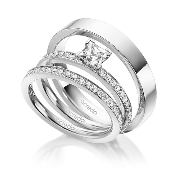 Verlobungsring Diamantring 0,7 ct. G VS & tw, si Weißgold 585