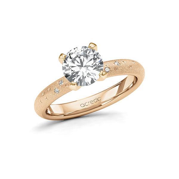 Verlobungsring Diamantring 1,53 ct. G SI & tw, si Roségold 585