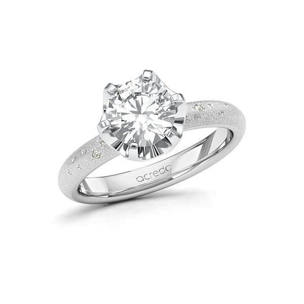 Verlobungsring Diamantring 1,53 ct. G SI & tw, si Weißgold 585