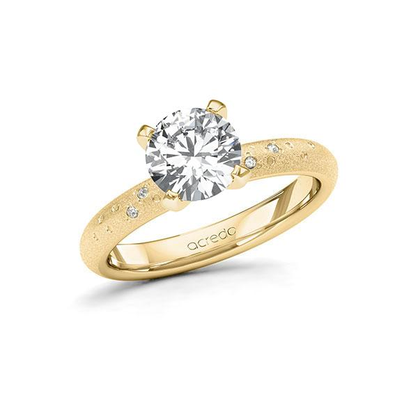 Verlobungsring Diamantring 1,53 ct. G SI & tw, si Gelbgold 585