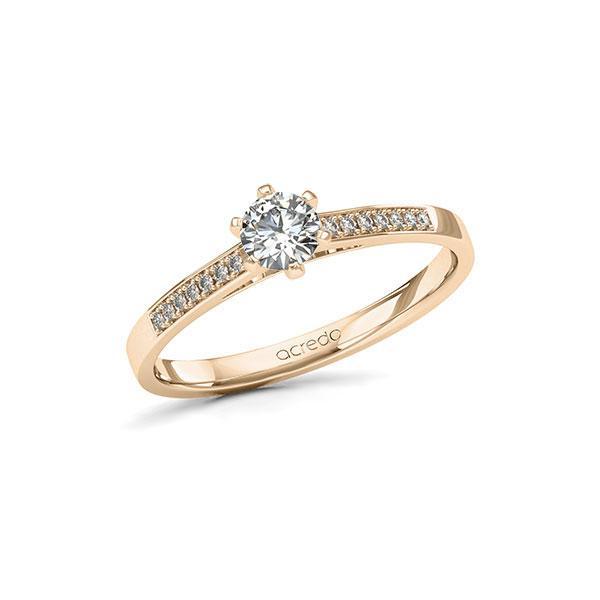 Verlobungsring Diamantring 0,37ct. G SI & tw, si Signature Gold 585