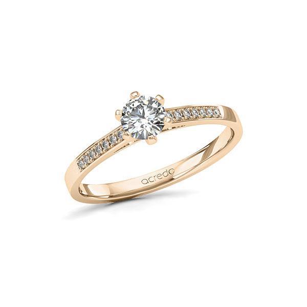Verlobungsring Diamantring 0,47ct. G SI & tw, si Signature Gold 585