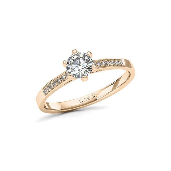Verlobungsring Diamantring 0,57ct. G SI & tw, si Signature Gold 585