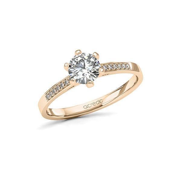 Verlobungsring Diamantring 0,77ct. G SI & tw, si Signature Gold 585
