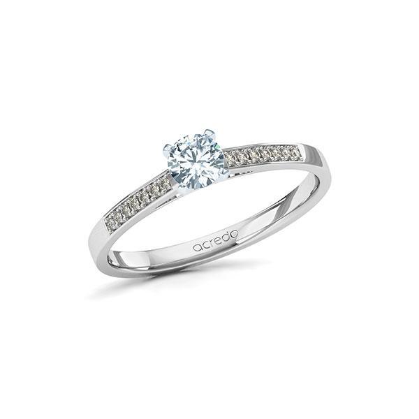 Verlobungsring Diamantring 0,37 ct. G SI & tw, si Weißgold 585